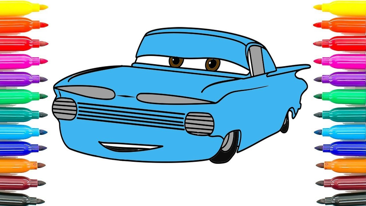 How To Draw Cars 3 Ramone Coloring Pages For Kids Paint