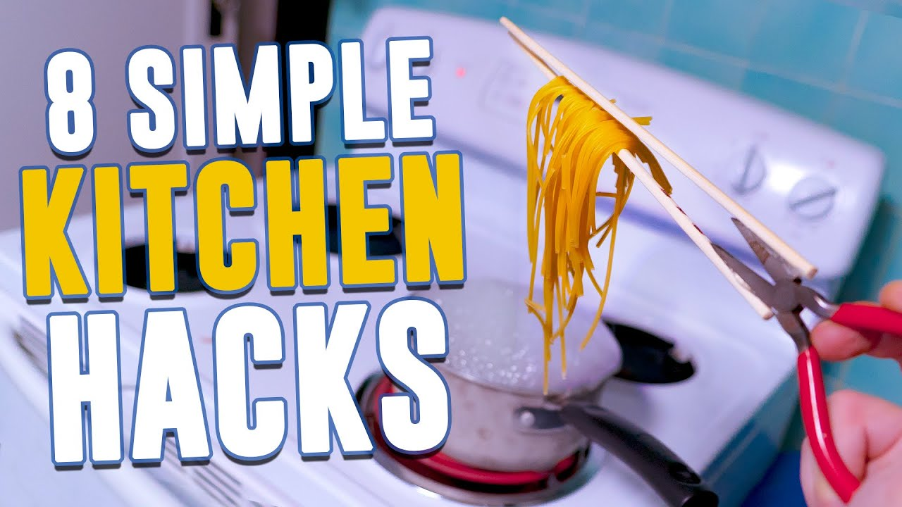 Simple Kitchen Pranks 8 incredibly simple kitchen hacks - youtube