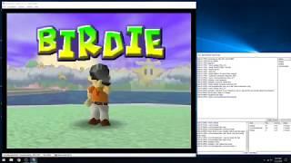 Mario Golf. Justase Vs.Cory Vs. Robbie (N64 kaillera netplay)