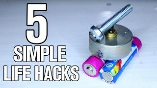 5 simple fun life hacks