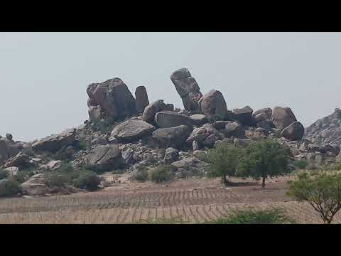 Indian landscape from Running Train Coimbatore express