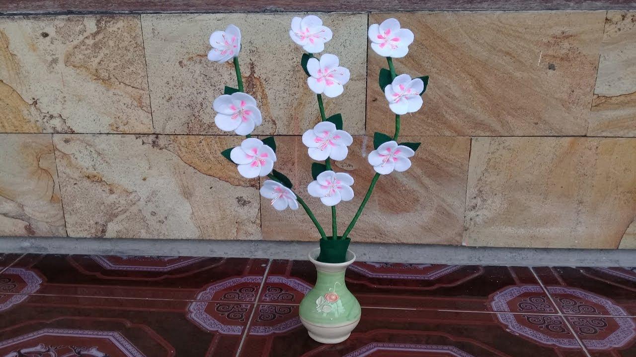 1000 Gambar Bunga Sakura Dari Kain Flanel  Paling Baru