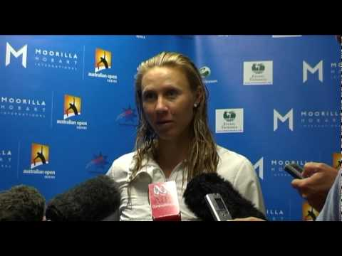 Alicia Molik's first round press conference