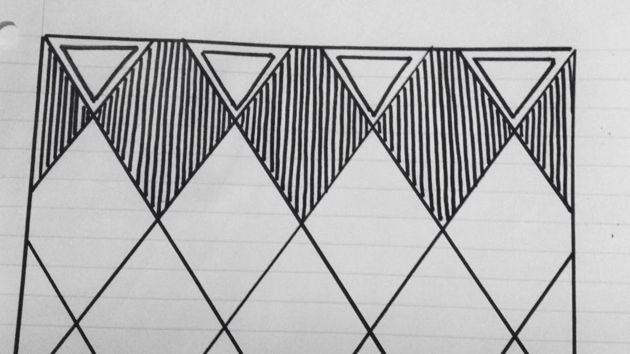 رسم زخرفة بسيطة وخطوة بخطوة رقم 77 Youtube