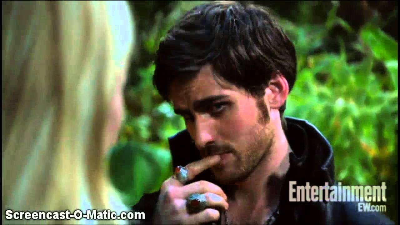 Emma Swan and Captain Hook kiss Once Upon A Time 3x05 ...