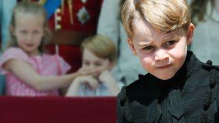 Prinz George - Was hat er bloß gesagt? Großcousine Savannah hält ihm geschockt den Mund zu