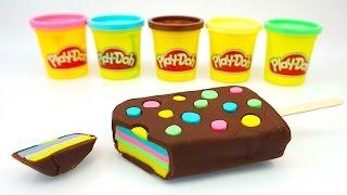 Пластилин Плей До, делаем мороженое.  Плей-До эскимо. Пластилин для детей. Игрушкин ТВ