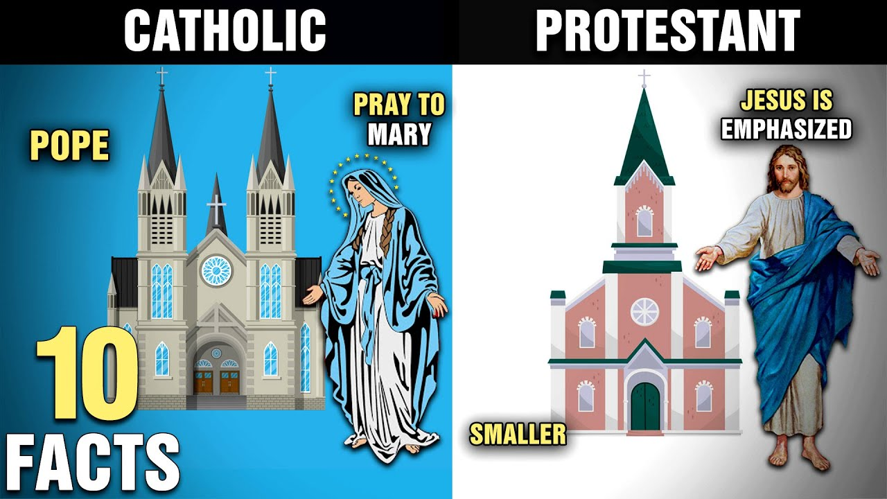 Download 10 Differences Between CATHOLIC and PROTESTANT Christians