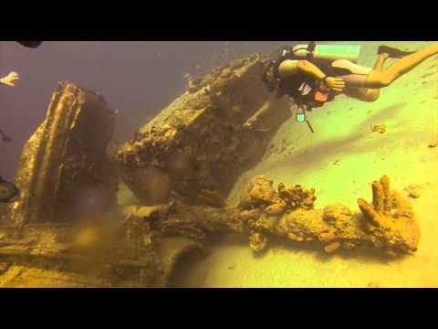 Diving in Aruba   Antilles Wreck   20 Feb 14