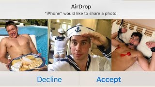 AirDropping Strangers Weird Photos!