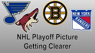 2021 NHL Playoff Picture Getting Clearer
