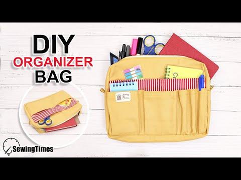 DIY ORGANIZER BAG | How To Make A Utility Pouch Bag Tutorial [sewingtimes]