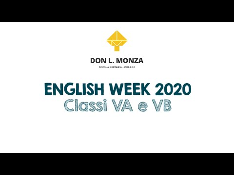 English Week 2020 Don Luigi Monza - Special Edition ON STAGE ONLINE: Classi Quinte
