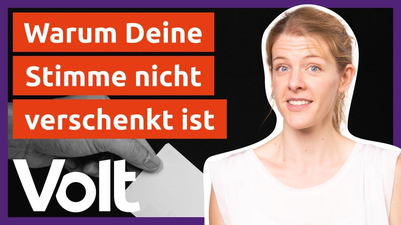YouTube: Warum solltest Du trotz 5%-Hürde Volt wählen? | Bundestagswahl 2021
