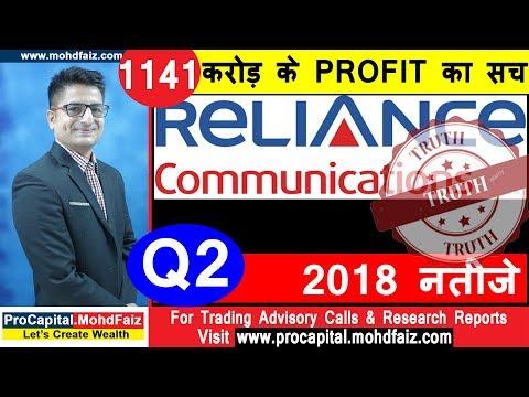 1141 करोड़ के PROFIT का सच  RCOM   Q 2  2018  नतीजे | STOCK TRADING STRATEGIES
