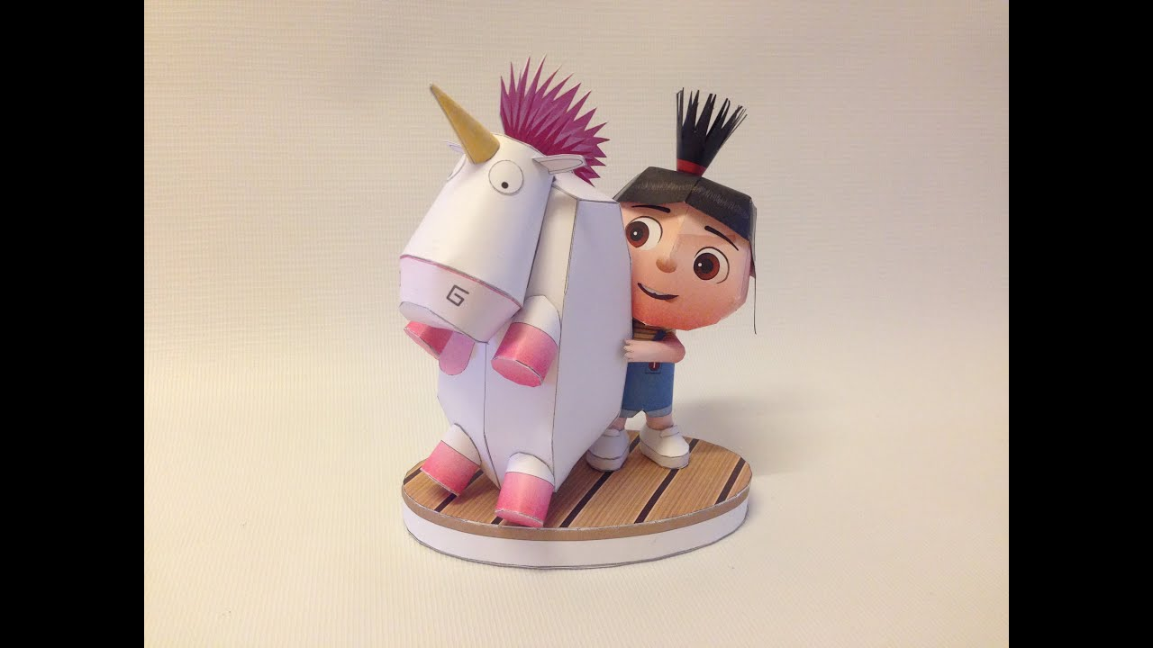 Papercraft How to make Agnes - Despicable Me Cute PaperCraft.