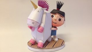 How to make Agnes - Despicable Me Cute PaperCraft.