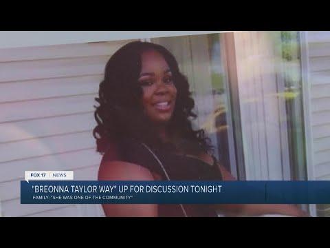 Breonna Taylor Way Honors Grand Rapids Youtube