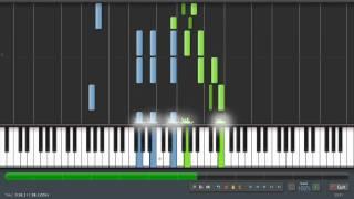 Santa Lucia - Piano Tutorial (100%) Synthesia + Sheet Music & MIDI