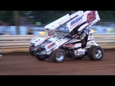 Lincoln Speedway 410 Sprint Car Highlights 06-11-16