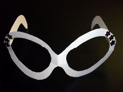 Manualidades de carton: lentes de cartulina - manualidadesconninos ...