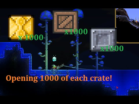 Terraria 241 Opening 3000 Gold Wooden And Iron Crates