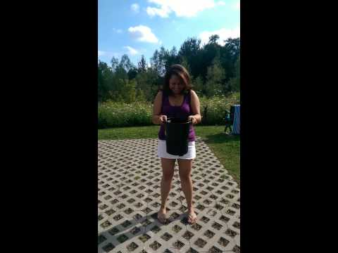 Sheena from Radio 1 UAE's ALS Ice Bucket Challenge