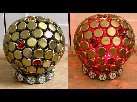 Fußball Lampe aus Kronkorken DIY