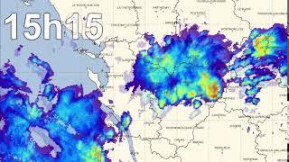 Les images radar de l'orage de grêle du 4 juillet