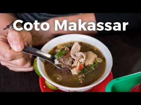 Coto Makassar (Beef Organs Soup) - Delicious Indonesian Street Food in Jakarta, Indonesia