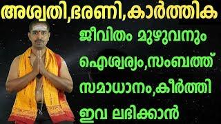 jyothisham |മേല്ശാന്തി വേട്ടക്കൊരുമകന് ക്ഷേത്രം കോഴികോട്|Astrology 2019 |ashvathi,bharani,karthika