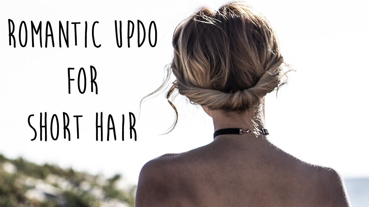 Bohemian Updo For Short Hair: Easy Chignon - YouTube
