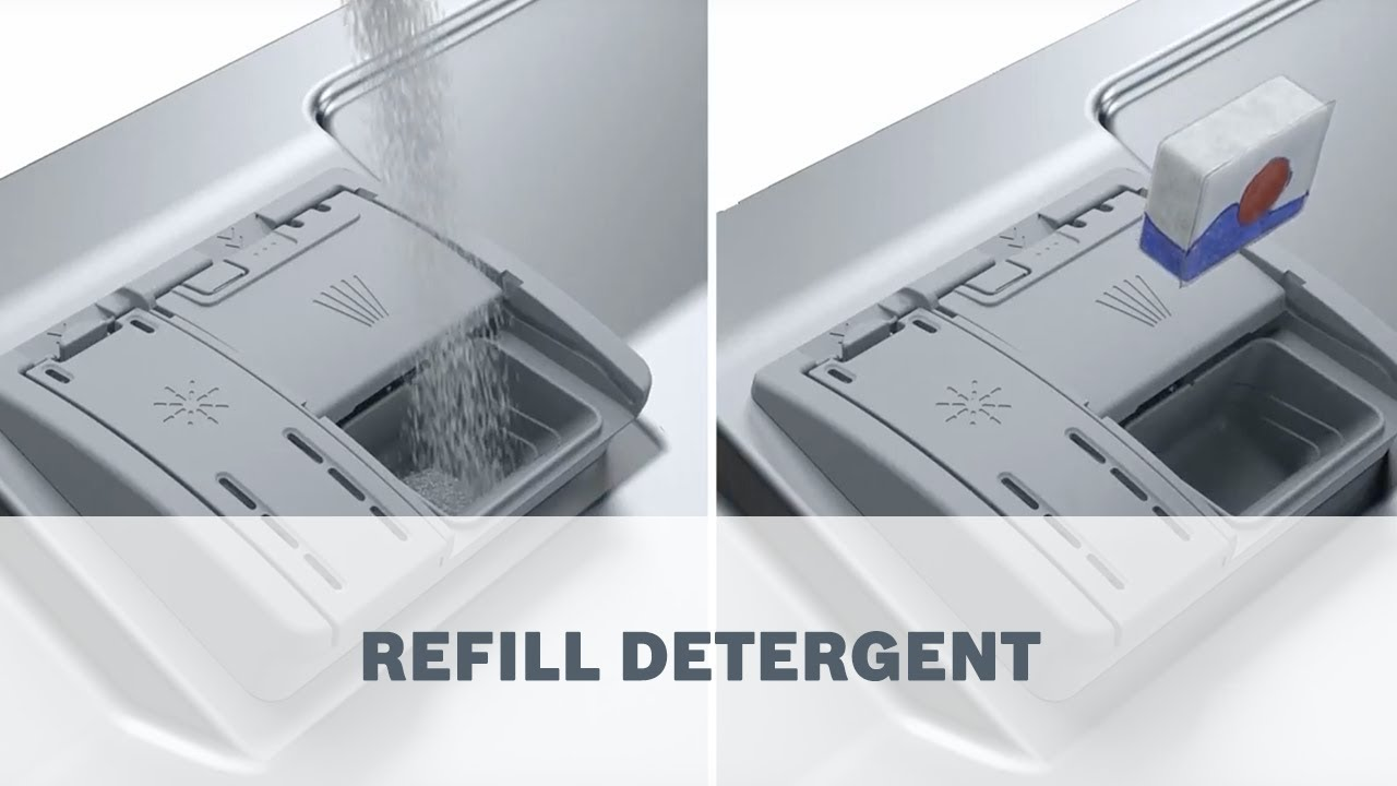 How To Refill Detergent For Your Bosch Dishwater Youtube
