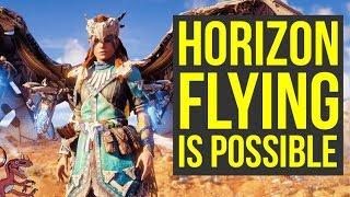 Horizon Zero Dawn FLYING IS POSSIBLE (Horizon Zero Dawn Fly - Horizon Zero Dawn How To Fly)
