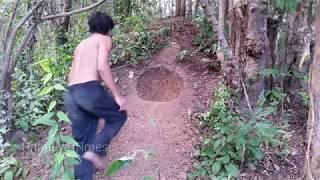 Primitive Times: Underground Hut and Secret Hole - Primitive Technology Part 19