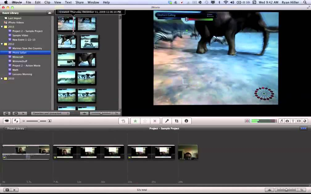 how to change imovie layout