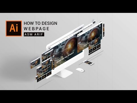 Illustrator Tutorial: How To DESIGN WEBPAGE | Webpage UI Design