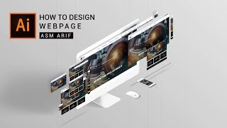 Illustrator tutorial: How to DESIGN WEBPAGE | Webpage UI Design