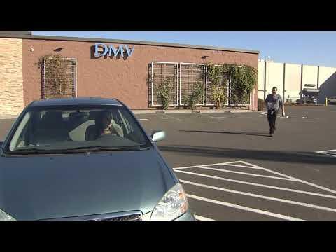 Behind the wheel of a DMV drive test