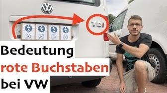 TSI / TDI: Bedeutung rote Buchstaben bei VW + Beispiele