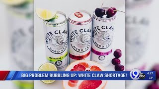 Makers of White Claw say there is a nationwide shortage of the drink