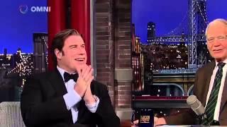 John Travolta on David Letterman April 20th 2015 Full Interview