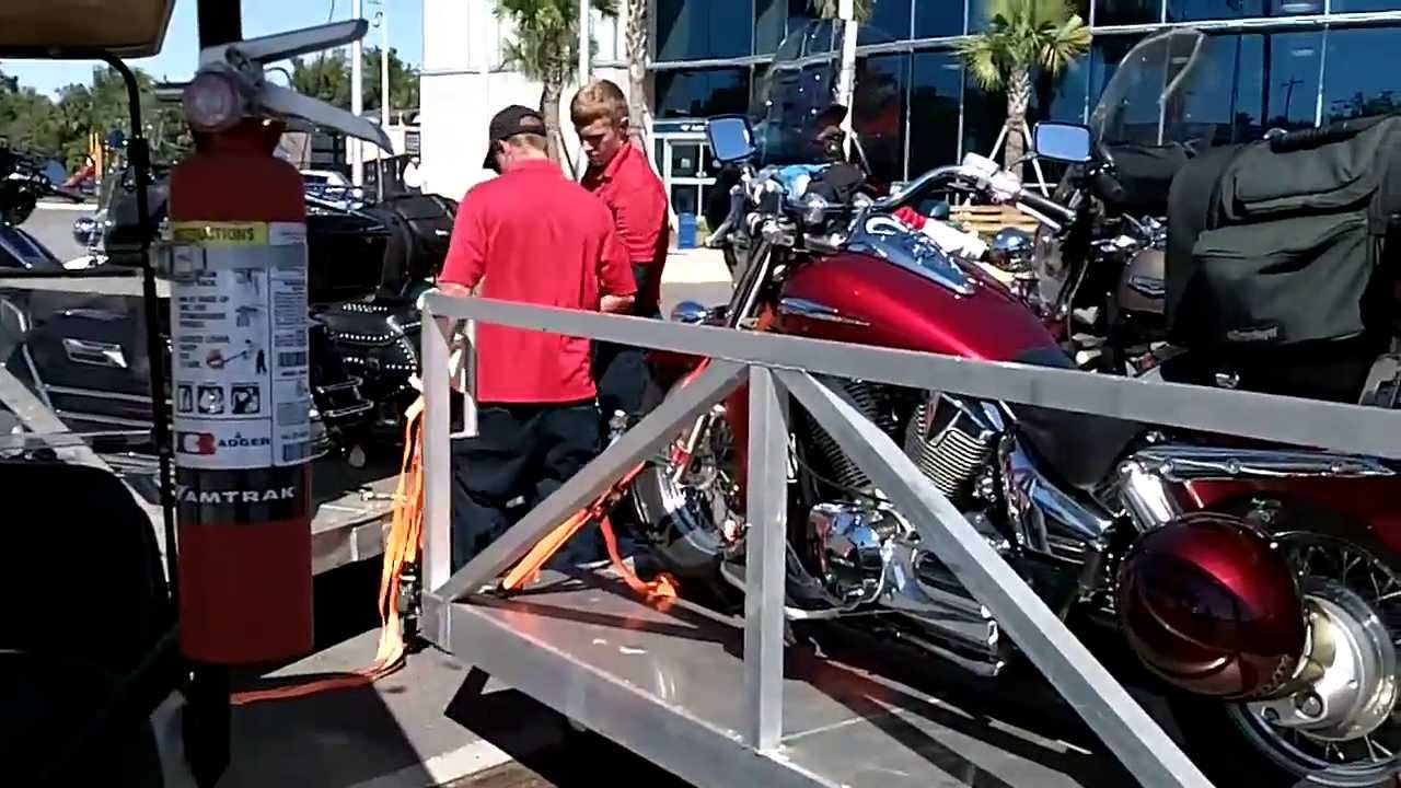 Amtrak Autotrain Motorcycle Transport Youtube