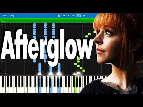 Lindsey Stirling  Afterglow  Synthesia piano tutorial
