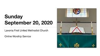 September 20, 2020 Online Worship