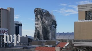 Trump's former Atlantic City casino imploded after years of disrepair