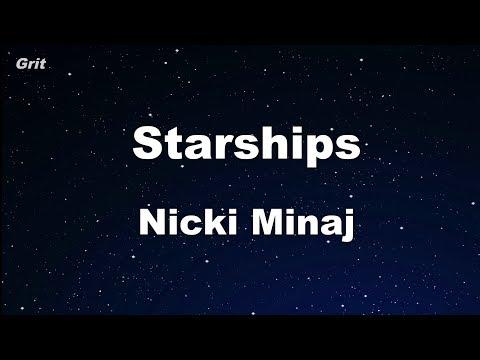 Starships - Nicki Minaj Karaoke 【No Guide Melody】 Instrumental