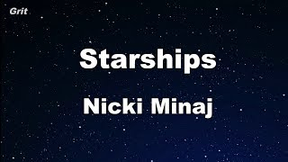 Starships - Nicki Minaj Karaoke 【No Guide Melody】 Instrumental