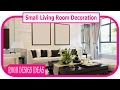 Small Living Room Decoration - How To Decorate A Living Room On A Really Small Budget