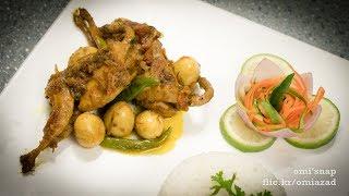 কোয়েল পাখির ঝাল রোস্ট   Bangla Quail Zhal Roast   Koel Curry